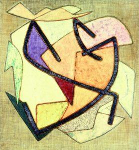 STRUTTURALE, 1958. Polimaterico, cm 75x70