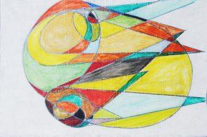 SENZA TITOLO, 1952. Matita e colori su carta, cm 24,7x37,7