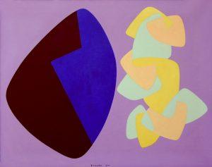FUNZIONE DI FORMA CONCRETA, 1955. Olio su tela, cm 73,5x94