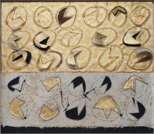 STRUTTURALE, 1964. Ottone, intaglio e incisione ossidrica, carta orientale e cartoncino nero, cm 64,5x73,5