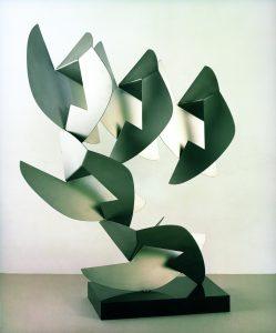 RAPPRESENTAZIONE CONCRETA, 1973. Acciaio inox, cm 65x25x88h