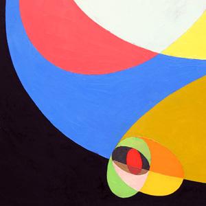 COMPOSIZIONE, 1952. Pittura a spatola, cm 32,7x42,5