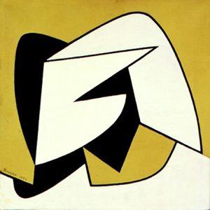 CONCRETO, 1957. Olio su tela, cm 40x40