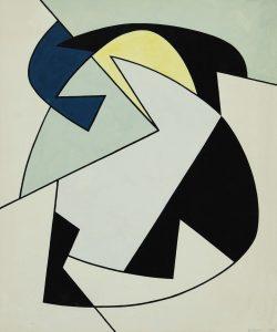 STRUTTURA, 1958. Tempera su cartoncino bianco, cm 51x42,6