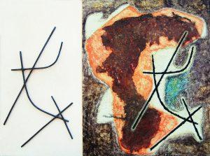 SUPERFICIE, 1959. Polimaterico, cm 60x81