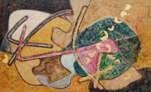 SENZA TITOLO, 1959. Polimaterico, cm 76,4x124,8