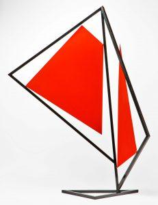STRUTTURA DI ELEMENTI MOBILI, 1954. Ferro e alluminio, cm 80x27x106h