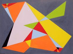 COMPOSIZIONE, 1954. Tempera su carta, cm 51,9x68,9