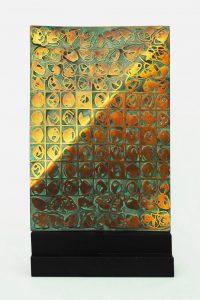 SPAZIO-TEMPO, 1980. Bronzo, cm 30x11,5x54,5h