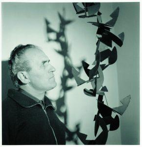 Angelo Bozzola con l'opera Multiplo-sottomultiplo